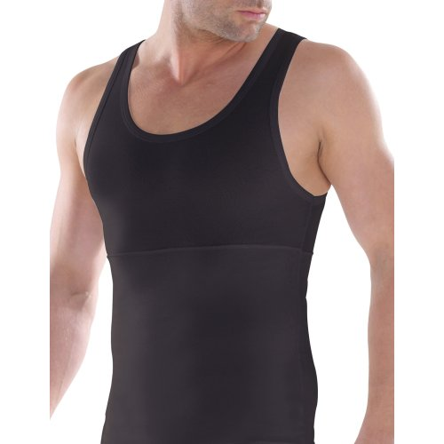 BlackSpade M9209 Men's Body Control Black Tank Vest Top