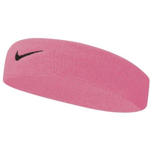 (One Size, Pink Gaze/Oil Grey) Nike Swoosh Headband | Sports Sweatband