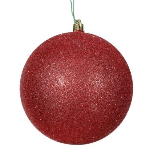 Vickerman N590603DG 2.4 in. Red Glitter Ball Christmas Ornament, 24 per Bag. - Pack of 12