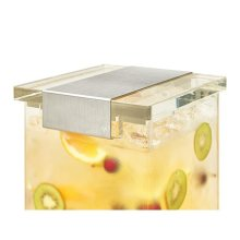 Rosseto LD146 3 gal Square Clear Acrylic Base Beverage Dispenser with Lock