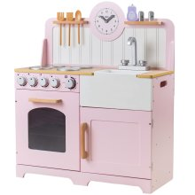 Tidlo Wooden Country Play Kitchen Pink