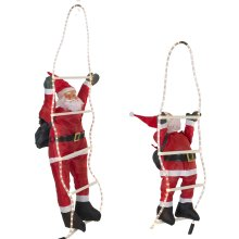 60 90cm Light Up Santa Climbing Ladder