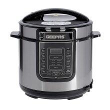 Geepas 1000W 7-in-1 Electric Pressure Cooker, Steamer 6L Multicooker