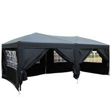 Outsunny 6m x 3(m) Garden Heavy Duty Pop Up Gazebo Marquee Party Tent Wedding