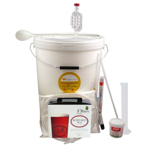 (Ruby Red Ale - 40 Pint) St Peters Starter Beer Making Set with Equipment - Homebrew