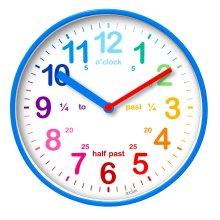 Acctim Wickford Childrens Time Teacher Wall Clock Blue