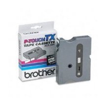 Brother TX141 Black on Clear