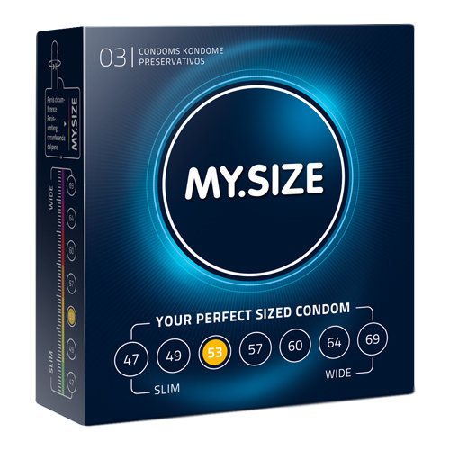 MY.SIZE 53 mm 3pcs  Pharmacy Condoms - My.Size