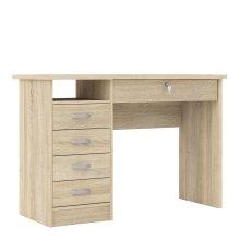 Desk 5 Drawers in Oak