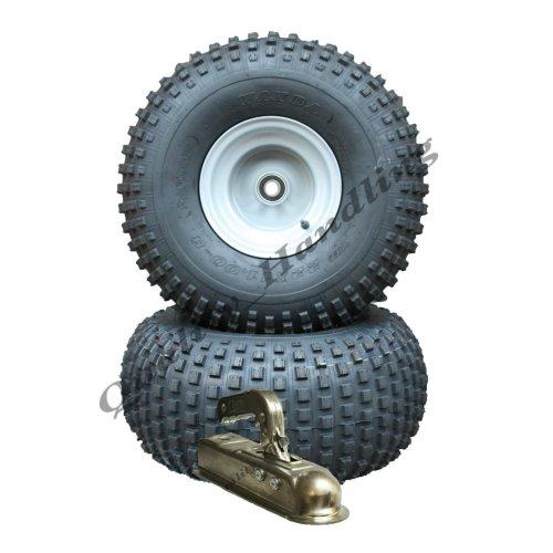 ATV trailer kit - Quad trailer - wheels with bearings + hitch, 310kg