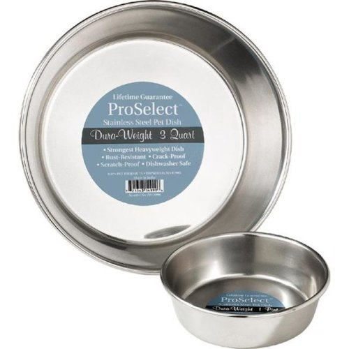 Pet Pals ZW149 32 ProSelect Stainless Steel Dura-Weight Dish 1 Qt