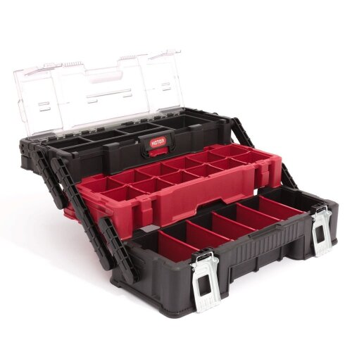 Heavy Duty Box organizer Keter TRIO Cantilever 3 levels of tools