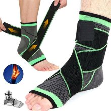 Ankle Support Compression Foot Brace Strap Sports Injury Gristle Achilles Tendon