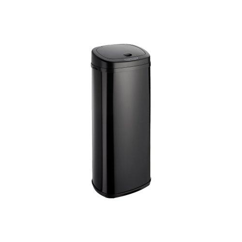 (50L, Black) Dihl Onyx Rectangular Automatic Sensor Bin with Black Lid