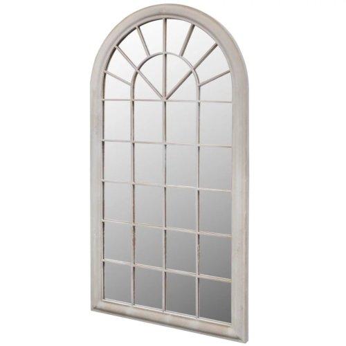 vidaXL Rustic Arch Garden Mirror 60x116cm Light Garden Home Window Illusion