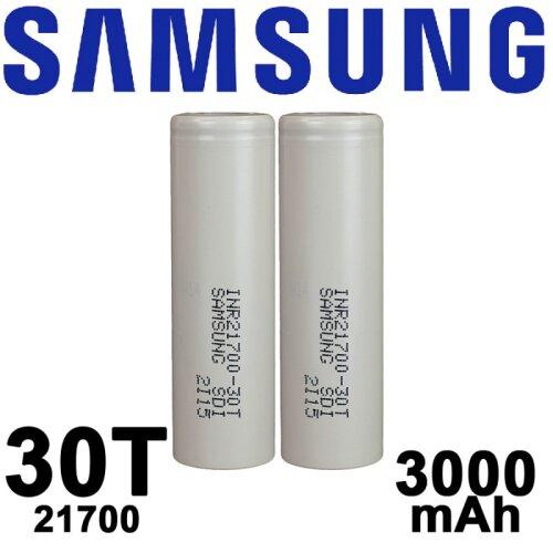 X2 Samsung 30T 3000mAh 21700 Flat Top
