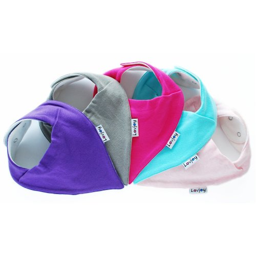 Fits Newborn to 3 years Super Absorbent /& Soft for Teething Babies COLOUR RUSH Adjustable Snaps 5 PACK Best Baby Gift Lovjoy Bandana Dribble bibs