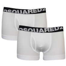 Dsquared2 Men's White Twin Pack Boxer Trunks