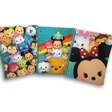 Tsum Tsum Set of 3 Spiral Notebooks 3 Different Pictures as Shown