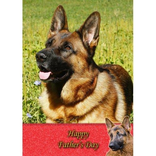"German Shepherd Father's Day Greeting Card 8""x5.5"""