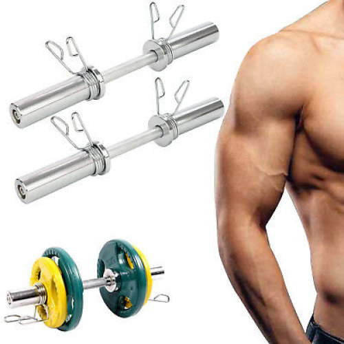 """New 2"""" Olympic Dumbbell Bars Set & Weights Weight Lifting Dumbell"""