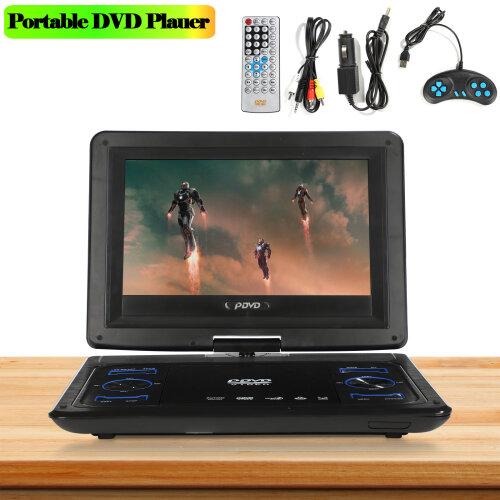 "Region 13.9"" Portable In Car DVD Player Rechargeable Swivel Screen"