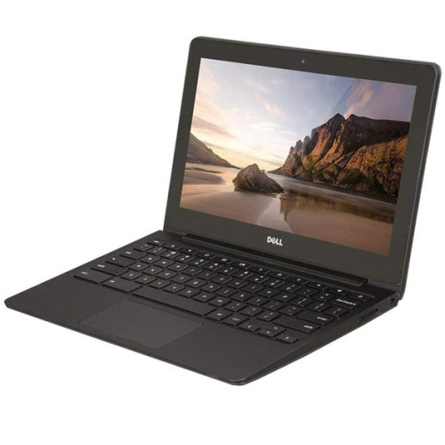 "Dell Chromebook 11, 11.6"" Screen, Intel Celeron 2955U CPU, 2GB RAM, 16GB SSD, HDMI, WiFi, Webcam, Chrome OS - Refurbished"