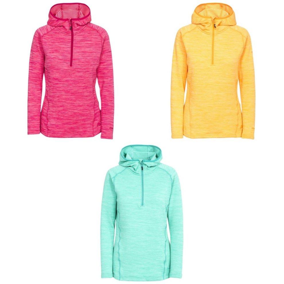 Trespass Womens//Ladies Romina Hooded Half Zip Fleece Sweatshirts Top