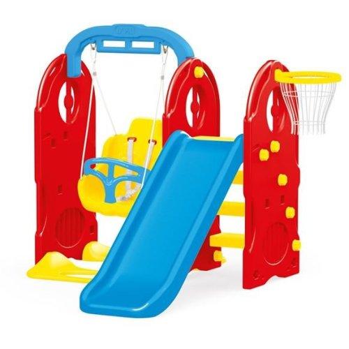 Dolu 4 in 1 Garden Kids' Outdoor Swing & Slide Set