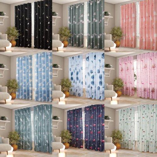 Nordic Blackout Curtain Hooks Velcro Panel Drapes