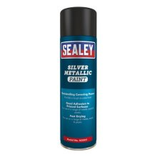 Sealey SCS031 Silver Paint 500ml Pack of 6