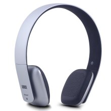 August EP636 Bluetooth Headphones - Silver - On Ear Wireless Headset with Mic & Bluetooth V4.1