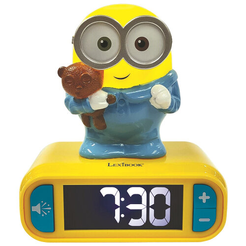 Despicable Me Minions Childrens Clock with Night Light
