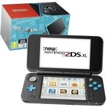 New Nintendo 2DS XL Handheld Console - Black and Turquoise - Nintendo 3DS - Used