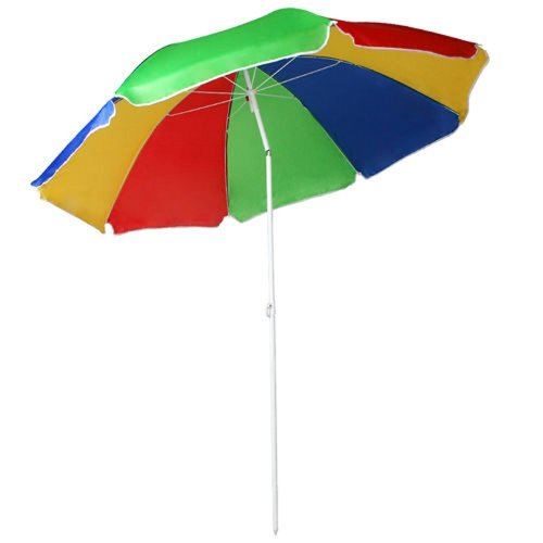 Tilting Rainbow UPF 40 Beach Parasol - 1.6m | UV Protection Umbrella