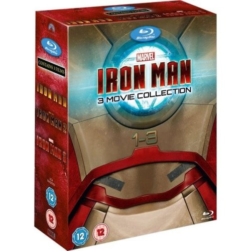 Iron Man Trilogy - Iron Man / Iron Man 2 / Iron Man 3 Blu-Ray [2013]