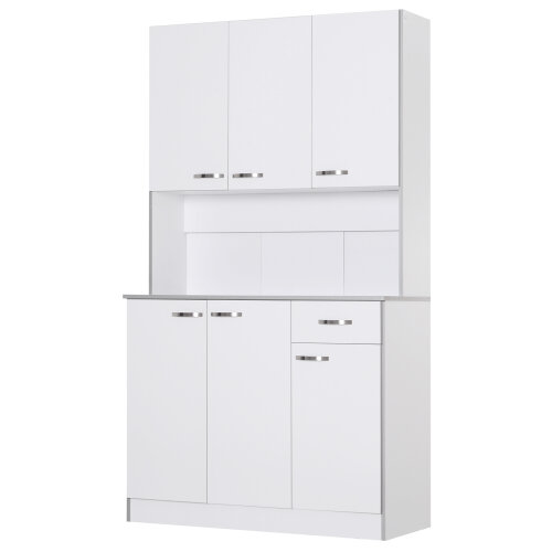 HOMCOM Modern Freestanding Pantry Cupboard Kitchen Hutch w/ Versatile Storage