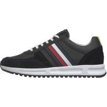 Tommy Hilfiger Men's Black Modern Corporate Runner Sneakers