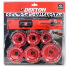 9pc Down Lights Hole Drill Cutter Saw Holesaw Kit Set 51mm 60mm 65mm 72mm