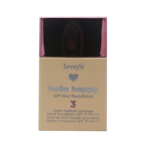 Benefit Hello Happy Soft Blur Foundation Liquid Foundation  1oz Light 03