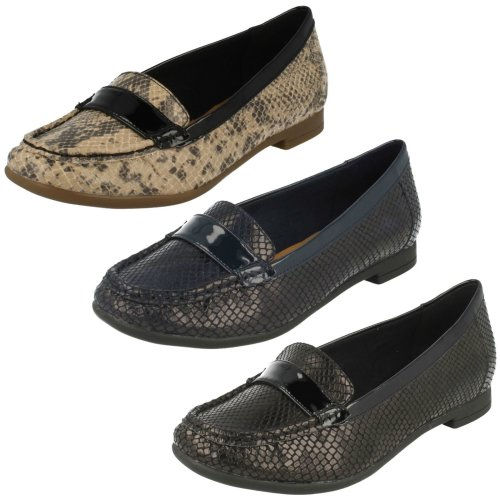 Ladies Clarks Smart Slip On Loafers Atomic Lady - D Fit
