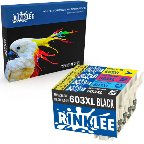 RINKLEE 4 Compatible 603XL 603 XL Ink Cartridges Replacement for Epson