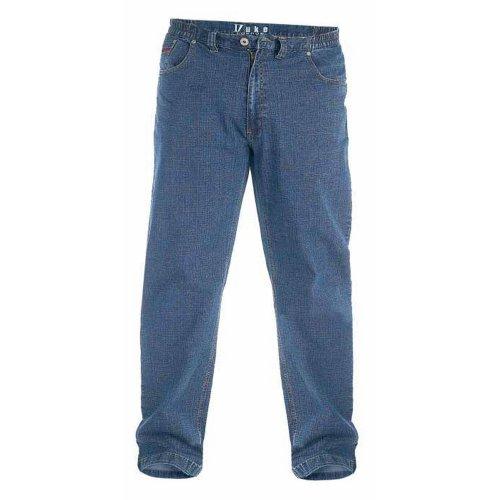 (48S, Blue) Duke London Mens Kingsize Bailey Elasticated Waist Jeans