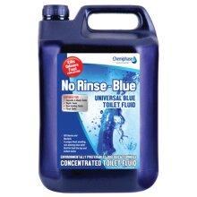 No-Rinse Blue Caravan Toilet Fluid | Blue Toilet Chemical 4 x 5 Litres (20L) | Chemiphase Ltd