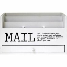 Letter Magazine Envelope Mail Rack Entryway/Kitchen Holder With Drawer