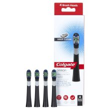 Colgate ProClinical 360 Deep Clean Refill Brush Heads, Black, Pack of 4