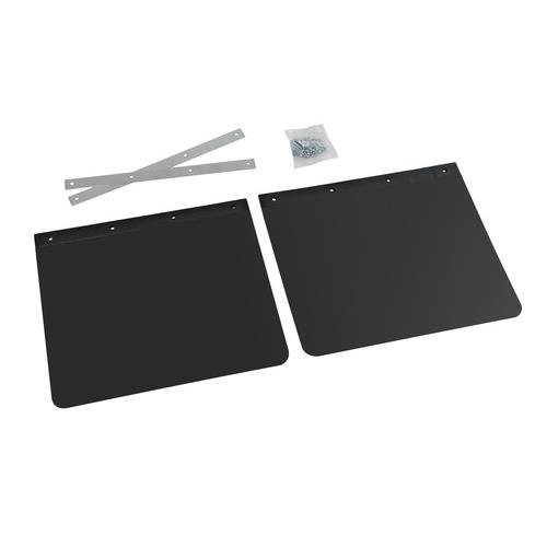 Trailer Mudflaps 45x35cm Universal RUBBER MUDFLAPS Mud Flap PAIR With Fittings