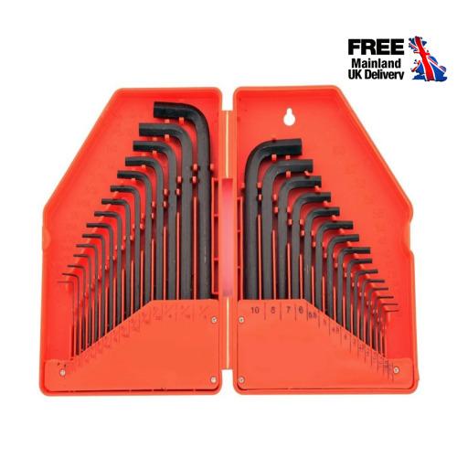Hexagonal Key Set Allen Alan Allan Hand Tool Sets Metric Imperial Flat Pack Use