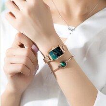 Watch Bracelet Set  Women Watches Fashion Square Ladies Quartz Dress Watches
