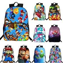 "Super Mario 16"" School Bag Backpack Travel Bag"